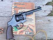 1917 Smith and Wesson with Speer reloading handbook