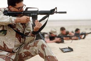 USAF MP with Colt Commando