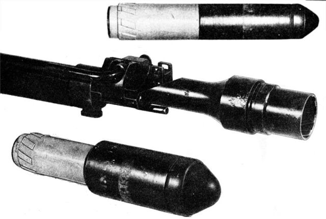 File:Type 2 rifle grenade launcher and grenades.jpg