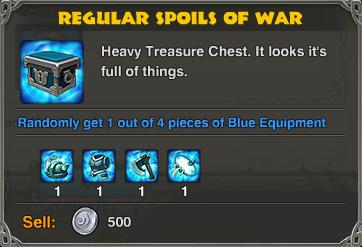 Regular Spoils of War