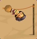 Tetherball child swinging