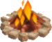 Marble fire symbol