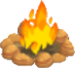 Sandstone fire symbol