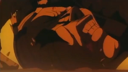 Dante having his head crushed