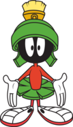 Marvin the Martian hands out