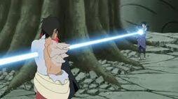 Sasuke kills Danzo