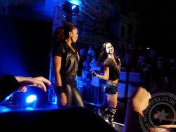 WWE Minehead - The Bella Twins vs AJ Lee and Tamina - 16 Nov 13 - 003
