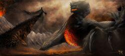 Ancalagon the black by skyrace-d7hemcm