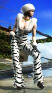 Anna Williams - Zebra Suit Costume - Front - T6 BR
