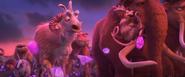 Shangri Llama, Crash, Eddie, Manny, Ellie, and the elderly Geotopians