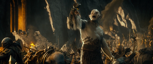 Azog with Thrór Head