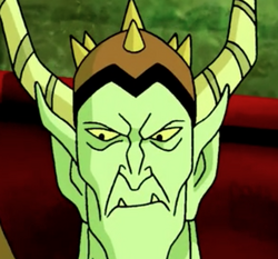 The Goblin King's angry stare