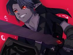 Dark Link evil grin