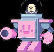 Boss in cuboy robot