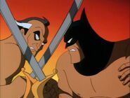 Ra's fighting batman