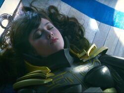 Gwen Grayson unconscious
