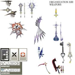 The Organization XIII Weapons