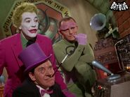 Joker with the riddler and the penguin
