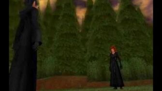 Kingdom Hearts 358 2 Days Cutscene 18 - Xion and Axel Face Off