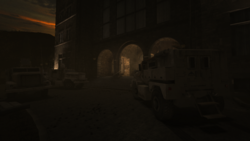 640px-Military armored vehicles parked in front of the asylum.