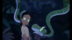 Shanti and Kaa's encounter