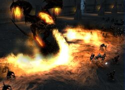Lord of the Rings Balrog breathing fire