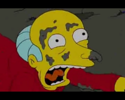 Mr. burns defeat