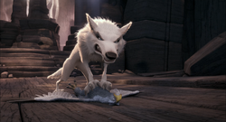 Boss and Mad White Wolf