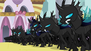 The captain amongst his fellow changelings