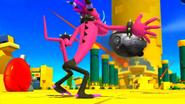 Zazz attacking Eggman