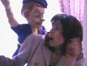 Pinocchio jumping on to Jennifer