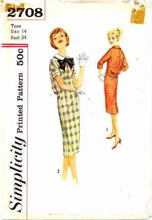 Simplicity 1958 2708