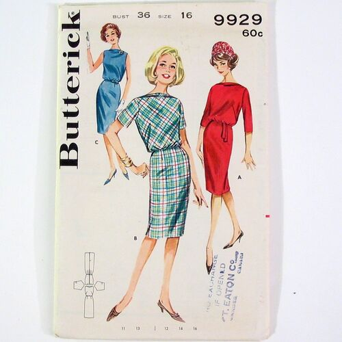 Butterick 9929 Eased Dress FRONT