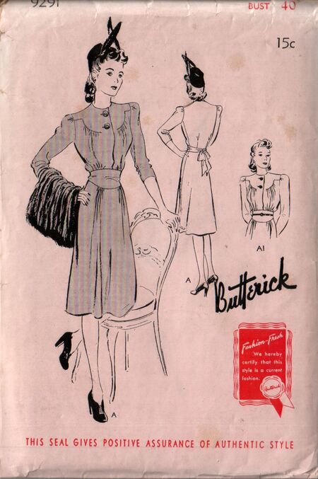 Butterick 9291 front
