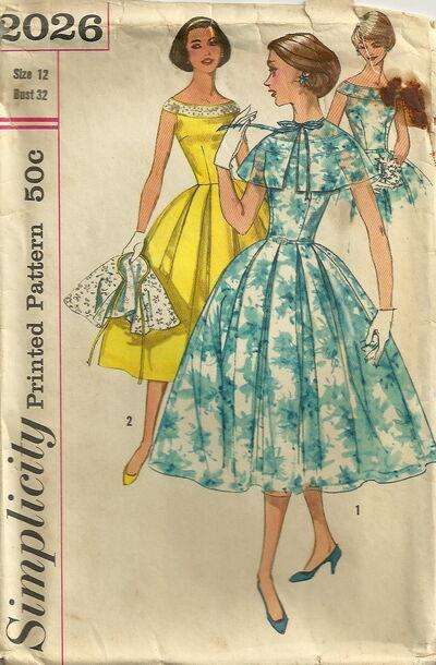 Simplicity 2026 Dress and Cape