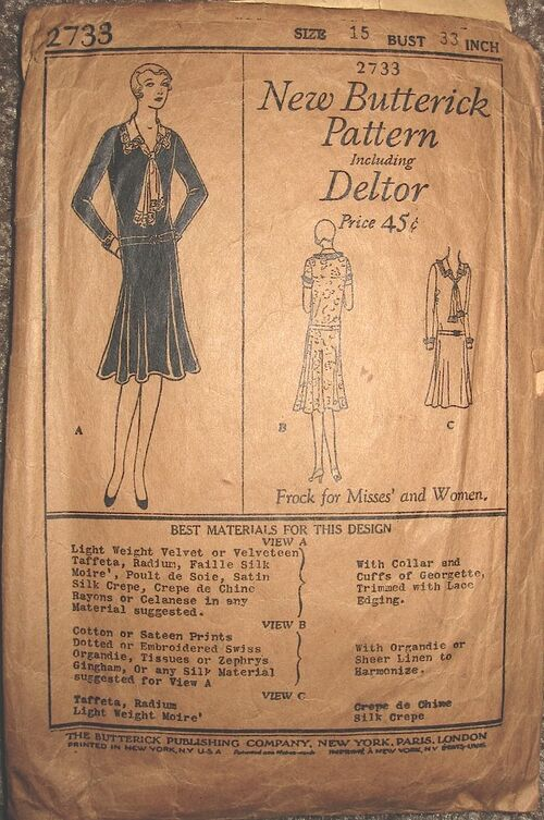 Butterick 2733 A front