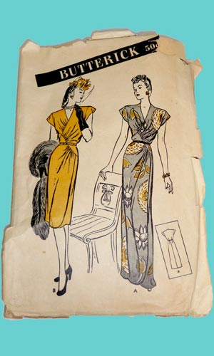 Vintage Butterick 3506 1940s dress image
