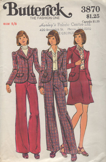 Butterick 3870 A image