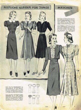 Praktische Damen und Kinder Mode 1938 0009