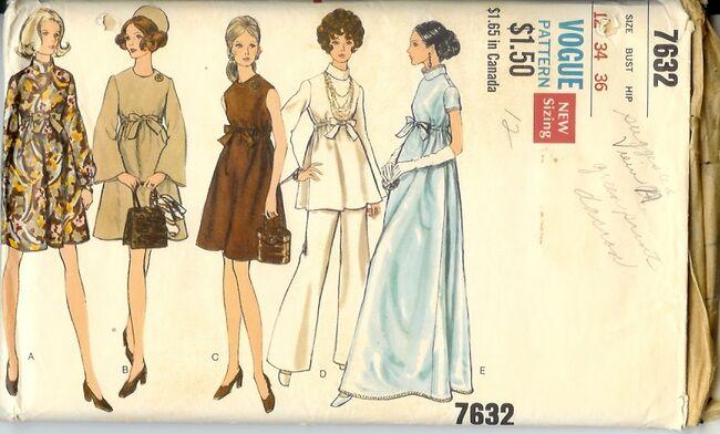 7632v 1960s maternity