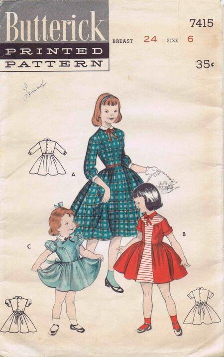Butterick 1955 7415