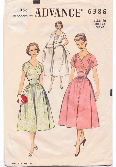 1954 Wrap Dress 16 cropped