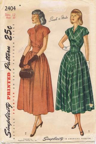 Simplicity 1948 2404