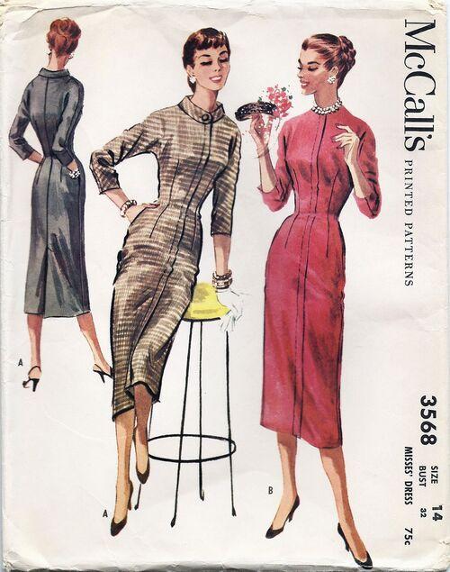 McCalls 1956 pattern 3568a