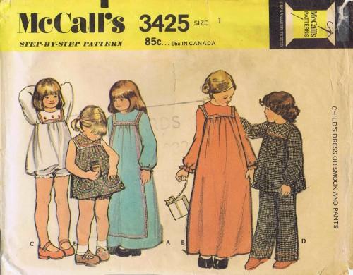 McCalls 1972 3425
