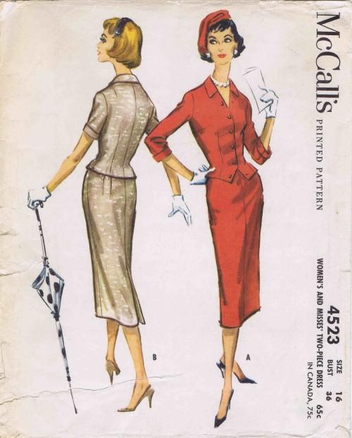 McCalls 1958 4523