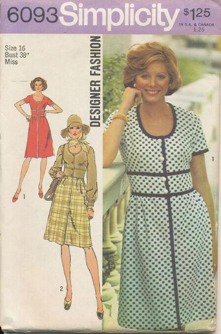 1973 Simplicity 6093 Size 16