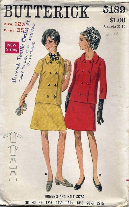 Butterick 5189 1960s 1