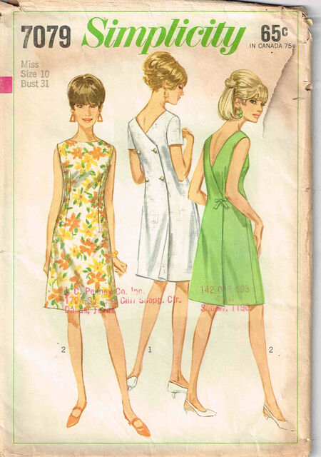 C1967 7079 Simplicity dress Size 10