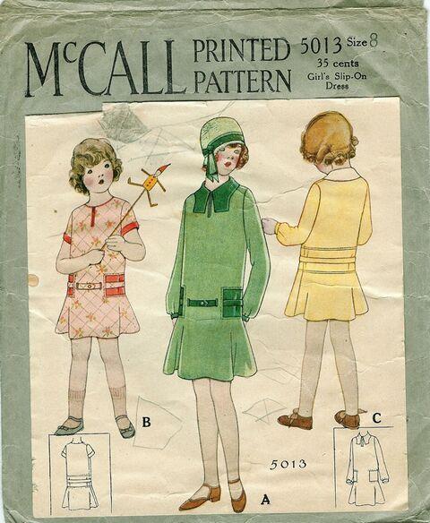 1928 McCall 5013 Size 8